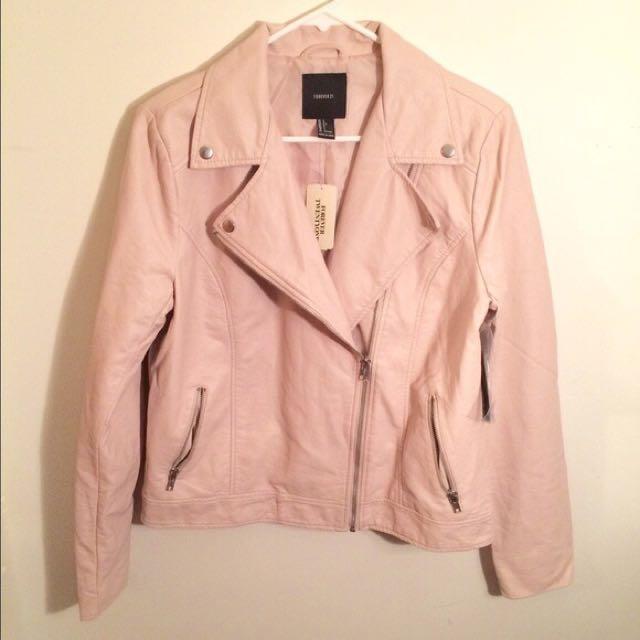 49af01bf6 Forever 21 Faux Leather Moto Jacket