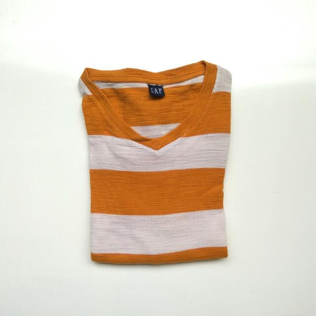 GAP Longsleeve orange stripe broken white