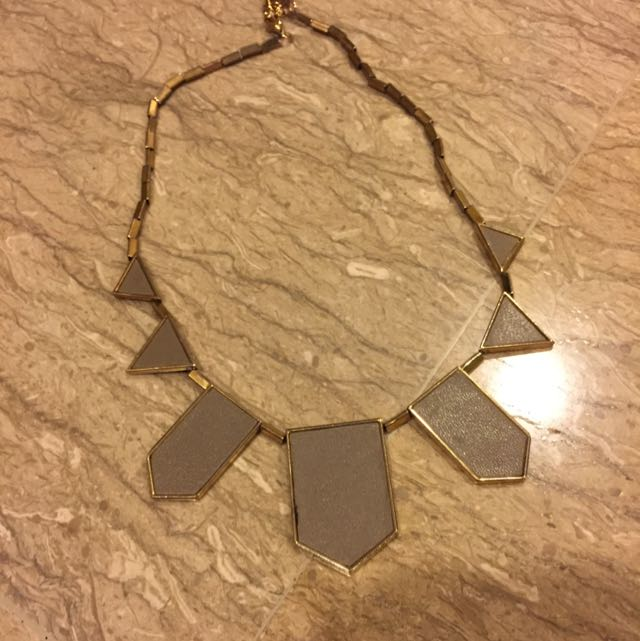 Grey Leathered Necklace