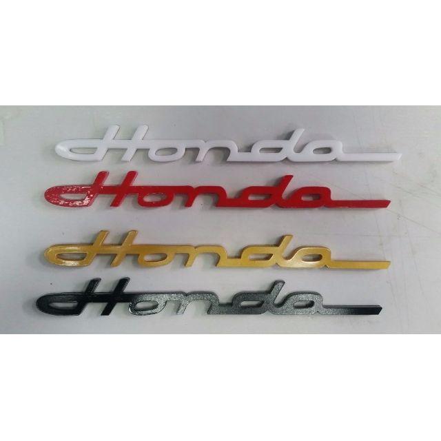 Honda Retro Cursive Emblem Car Accessories On Carousell