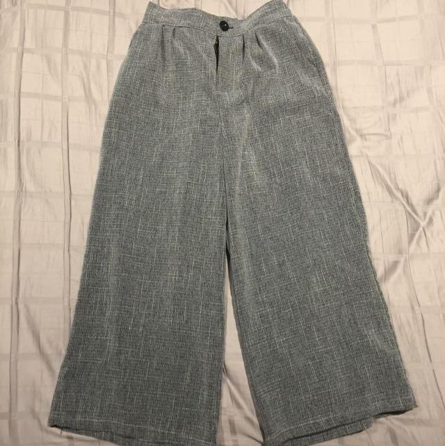 Korea Inspired Wide Leg Trousers