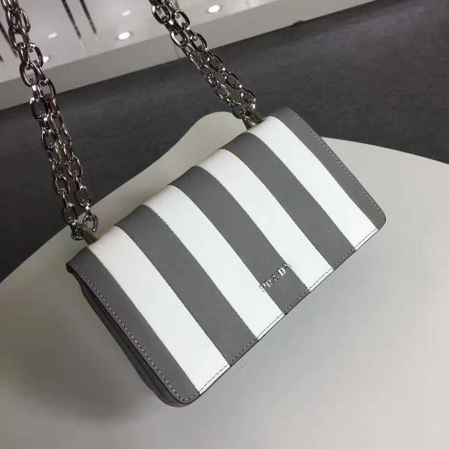 Luxury handbags Prada 1BD009 women bag luxury handbags women stripe bags designer with logo bolsos mujer leather handbags