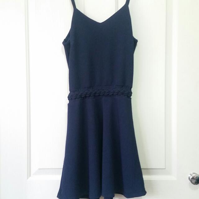 Navy korean style dress