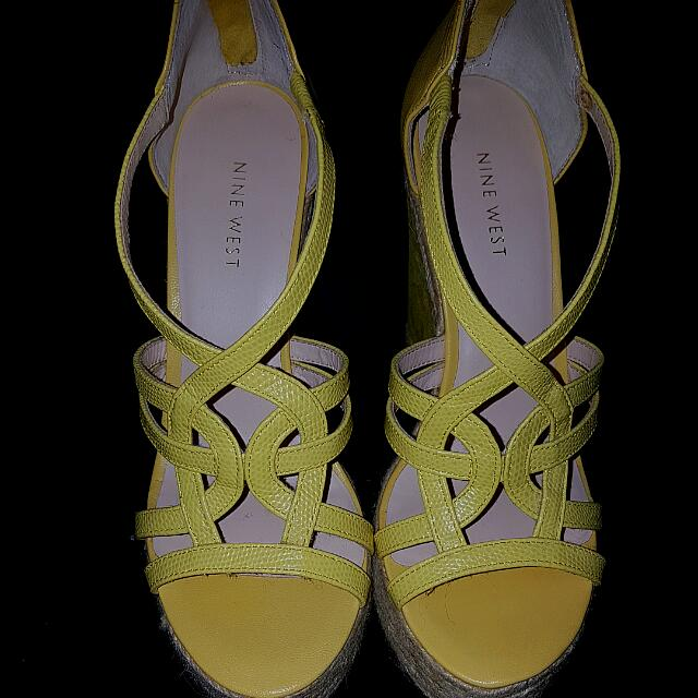 Nine West Wedge Shoes ( Yellow)