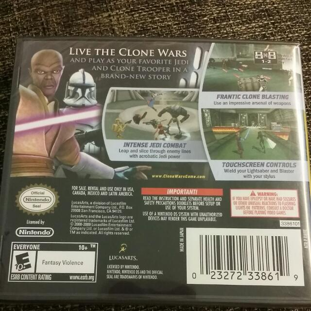 Nintendo DS StarWars Clone Wars Republic Heroes