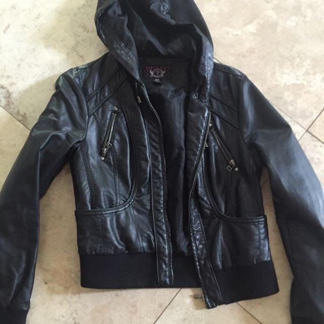 Nitrogen Faux Leather Jacket