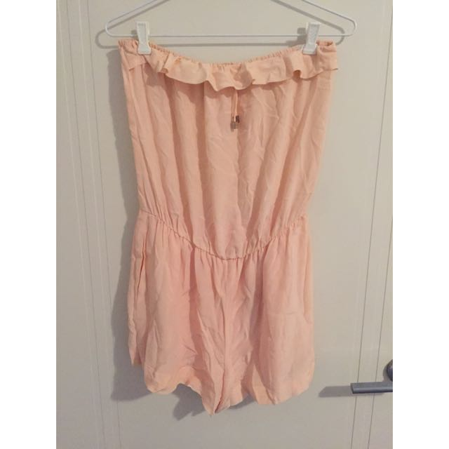 Pink Strapless Playsuit