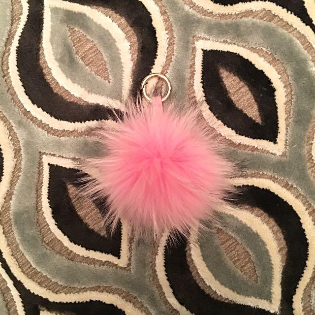 Pompom Key Chain - Baby Pink