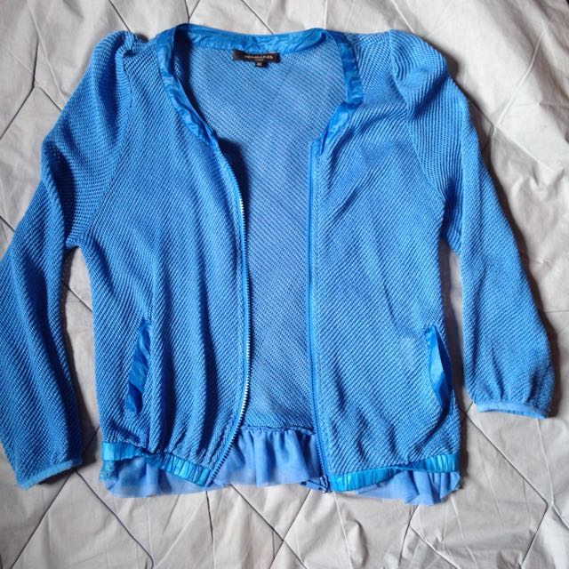 Preloved Blue Jacket With Laced
