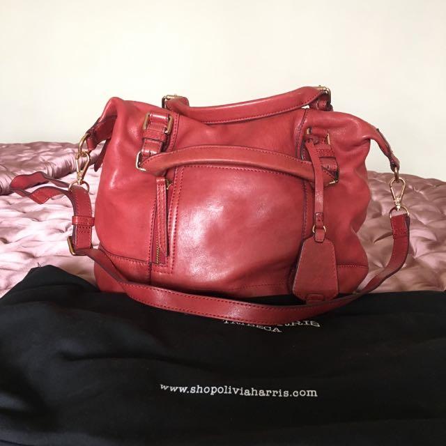 Red Sling Bag Olivia Harris