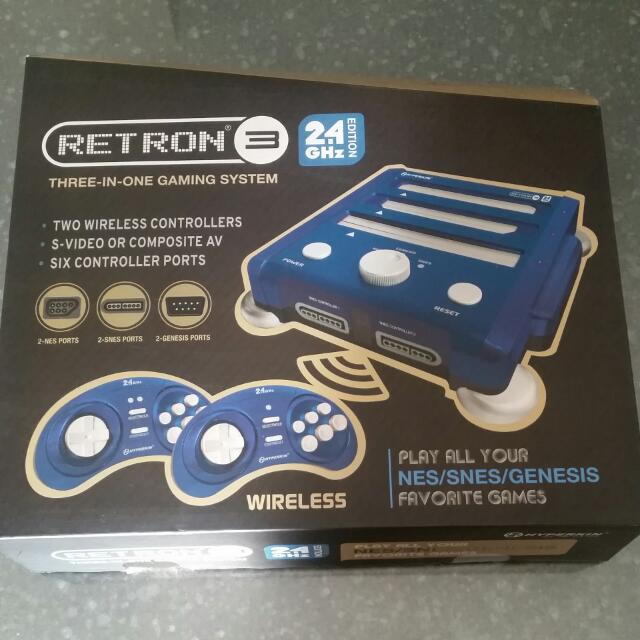 Retro 3 In One Gaming System  2.4 Ghz   No Games Included