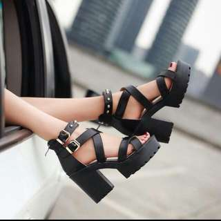 Chunky Chic High Heels