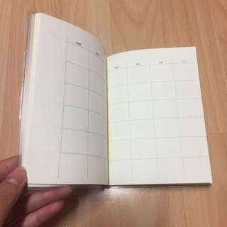 MUJI Brown Agenda Schedule