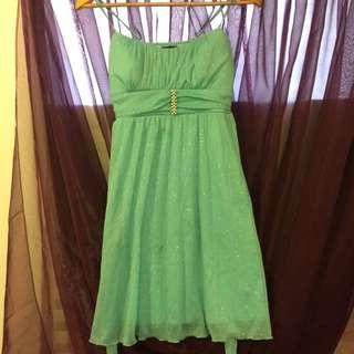 LE CHATEAU sparkle Teal Dress