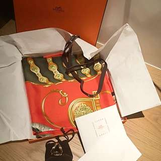 Hermes Scarf Silk 100%Authentic