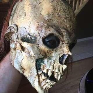 Halloween Mask - Skull Head With Hair