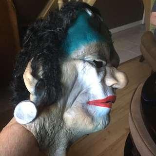 Clown Frankenstein Halloween Mask Small