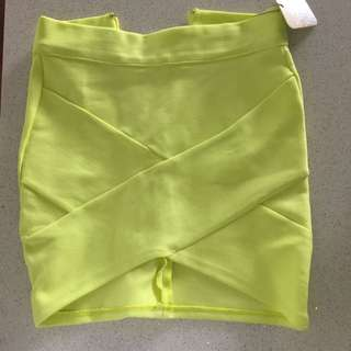 Lime Bandage Skirt Size 6