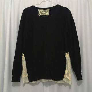 Black Lacey Pullover