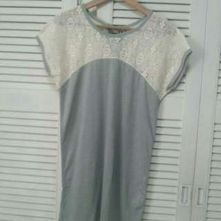 M/L/UK8/UK10/UK12 BN Lace Long Top