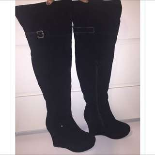 Suede Size 9 Thigh High Boots