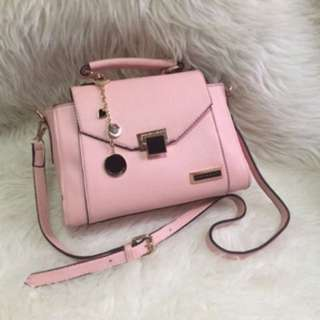 Tas Charles And Keith Ashanty Baby Pink Import