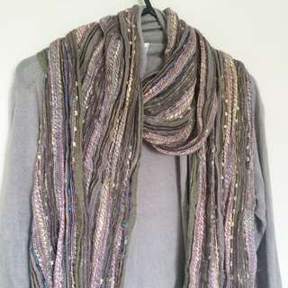 Scarf Boho Earthy Natural Colours