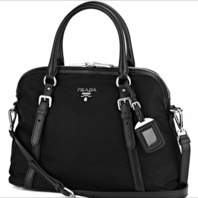 6590d4e1af18 100% Ori Prada BL0912 Black, Luxury, Bags & Wallets on Carousell