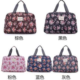 🚚 碎花防水大容量旅行袋/手提包/收納袋/休閒包/折疊包/輕便旅行包(中)