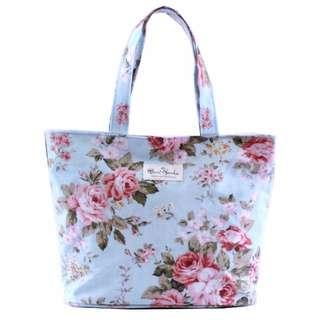 🚚 韓版田園玫瑰防水側肩包/手提包/旅行包/野餐包