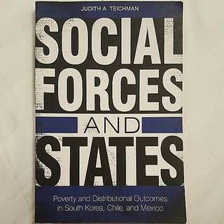 Book - Social Forces And States: Poverty And Distributional Outcomes In South Korea, Chile And Mexico - By Judith A. Teichman 2012