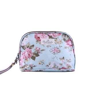 🚚 田園玫瑰防水化妝包收納包/筆袋/旅行包/手拿包/零錢包