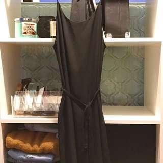 Mendocino-Chiffon Black Dress