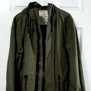 H&M Khaki Green Long Parka