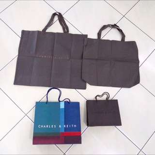 Charles & Keith Paperbag Dustbag Branded Paper Bag Dust Bag