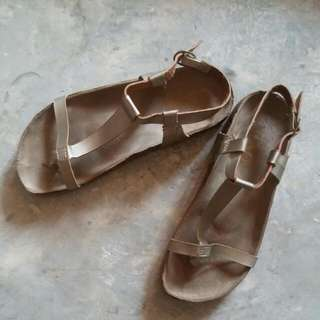 Brown Gold Sandals