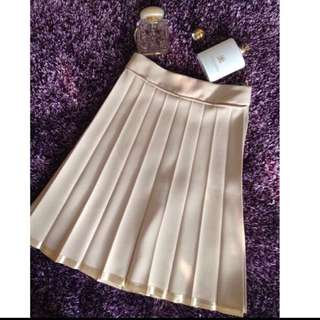 Pleated Skirt Midi (rok kerja)