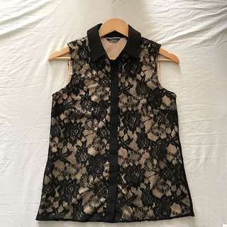 BASQUE Formal Laced Top