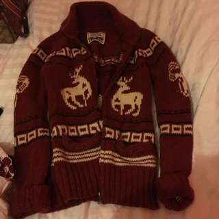 TNA Maroon Knotted Sweater