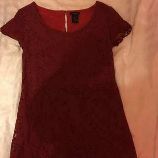 Aritzia Talula Maroon Lace Dress
