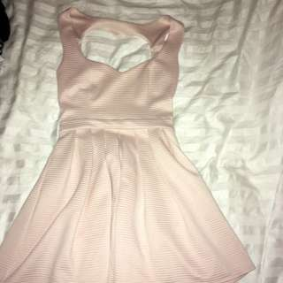 Top shop Soft Pink Heart Cut-Out Back Dress