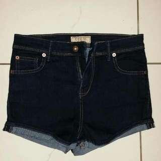 Guess Denim Shorts, Dark Blue, Size 26