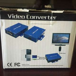 Reduced - VGA To hDMI Powered Converter (Computer To TV)