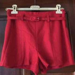復古高腰短褲