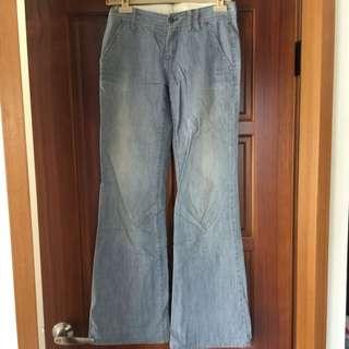 AX寬版牛仔褲