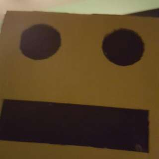Gold Robot Head With Flashing Eyes