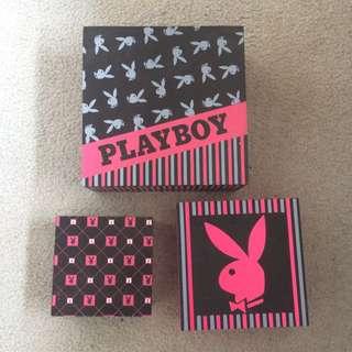 Set Of 3 Playboy Boxes