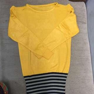 knit dress yellow