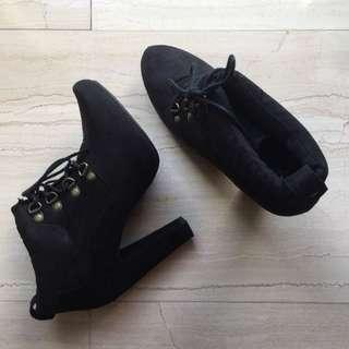 New Look Black Boots Heels