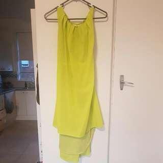 Lime Green Summer Dress Size 8